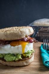 Breakfast Crumpet Burger