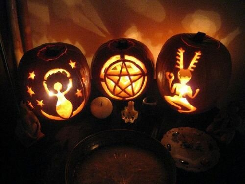 As modern-day Pagans, we know that the spirits that cross over at this time of year are rarely malicious and often own own ancestors will visit us if we pay homage to them. We don't want to scare them off with jack-o-lanterns, but rather ward off the spirits that perhaps are not well-intentioned and how can we do that? Well, instead of scary faces, why not protection symbols! It can be super easy to create your own jack-o—lanterns templates to carve any image that you want onto your pumpkin face. -