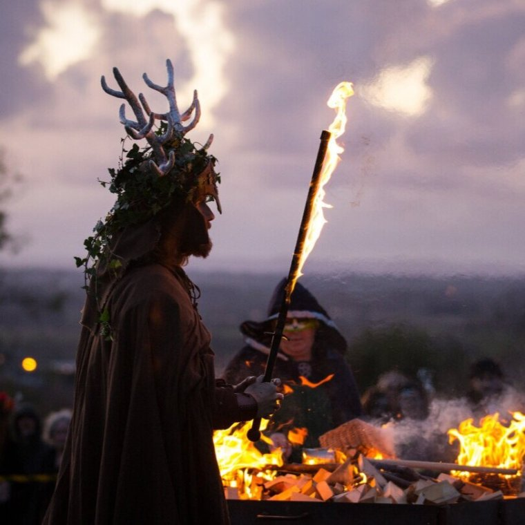 And, of course, there is the ancient Samhain festivals observed by the ancient Celts/Scots. I don't probably need to tell you much about it, but the traditional version included a belief that the dead could walk among the living and making offerings to them of special foods were thought to prevent unpleasant encounters with them or the faeries which were especially powerful at this time of year. -