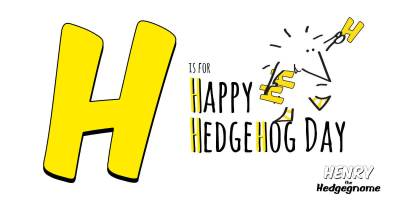 Children's books   Henry the Hedgegnome   H is for Happy Hedgehog Day