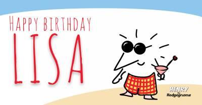 Children's books   Henry the Hedgegnome   Happy birthday Lisa