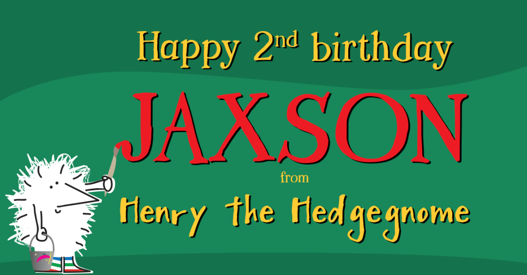Children's books | Henry the Hedgegnome | Happy birthday Jaxson