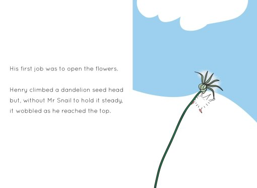 Henry the Hedgegnome has a busy day - spread 4 dandilion