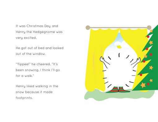 Henry the Hedgegnome's amazing Christmas Day - spread 1