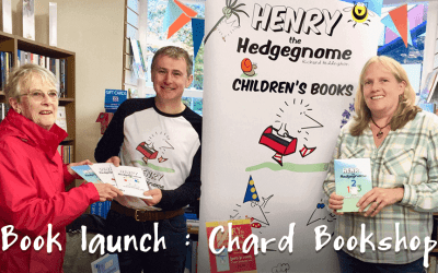 Children's author, Richard Heddington, returns to Chard to launch his 5th children's book.