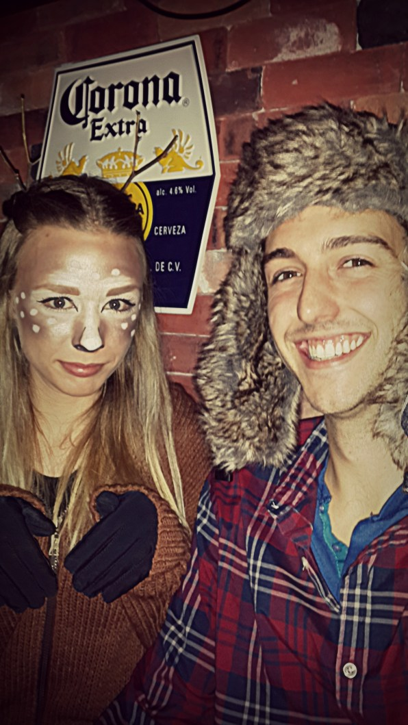 Deer/Hunter couple's costume!