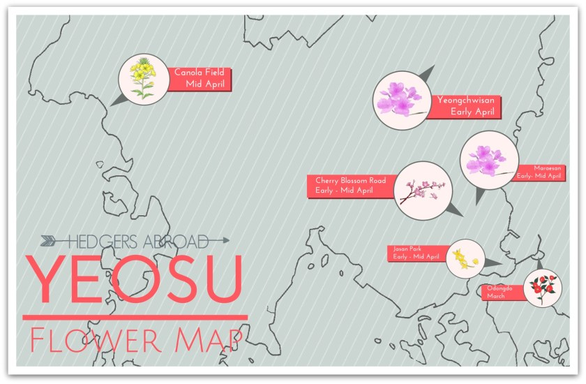 Yeosu flower map