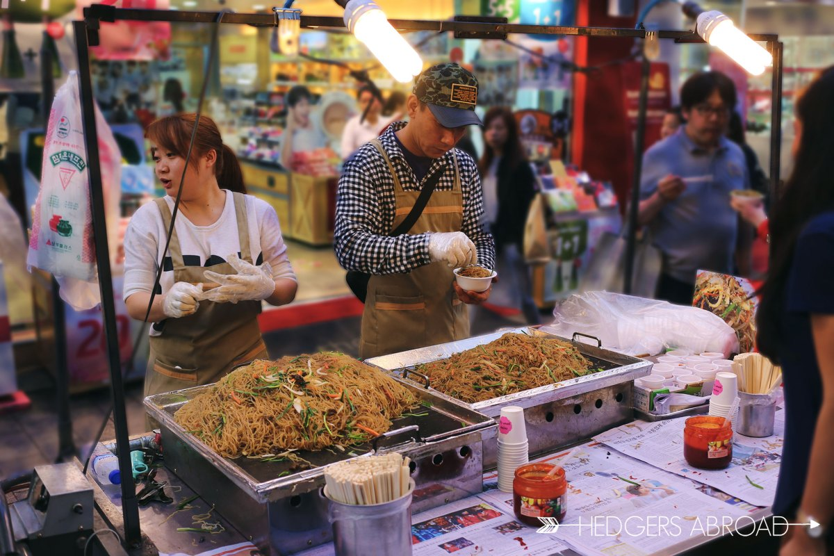 Japchae Street Food // MYEONGDONG, SOUTH KOREA