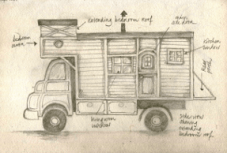 truck side view drawing