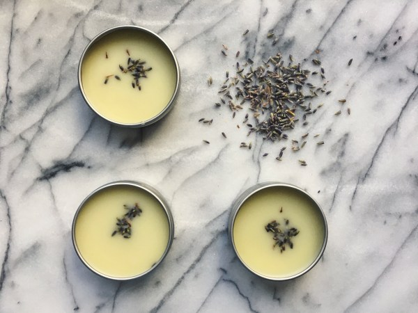 3 tins of Somnus dream balm with lavender petals