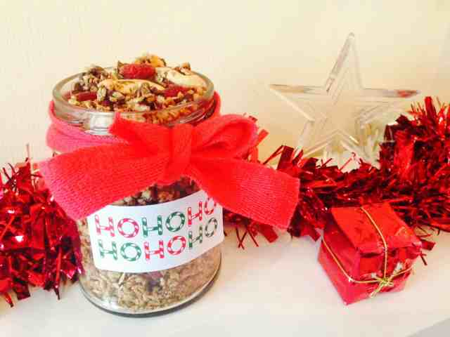 Christmas Granola Jar