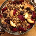 Special Chai Granola with cranberries, cashews and dark chocolate chips