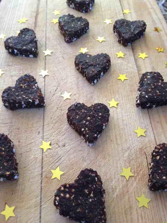 Raw Chocolate Buckwheat hearts