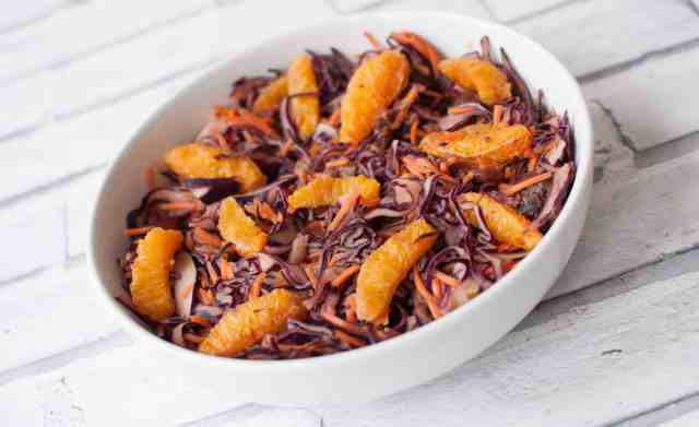 Red Cabbage and Carrot Salad with a kickass peanut butter dressing 7
