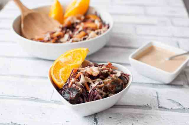 Red Cabbage and Carrot Salad with a kickass peanut butter dressing 9