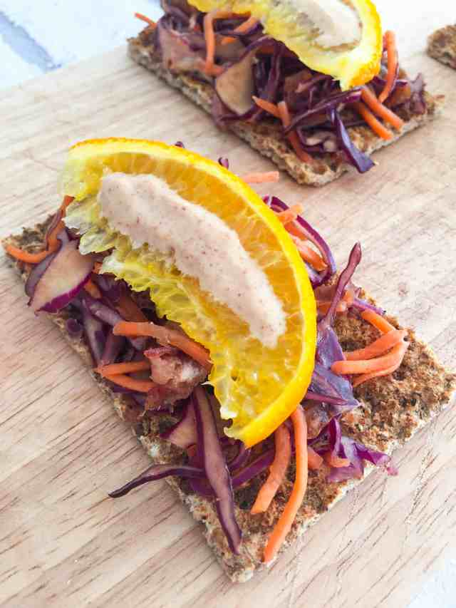Red Cabbage and Carrot Salad with an insane peanut butter dressing 8
