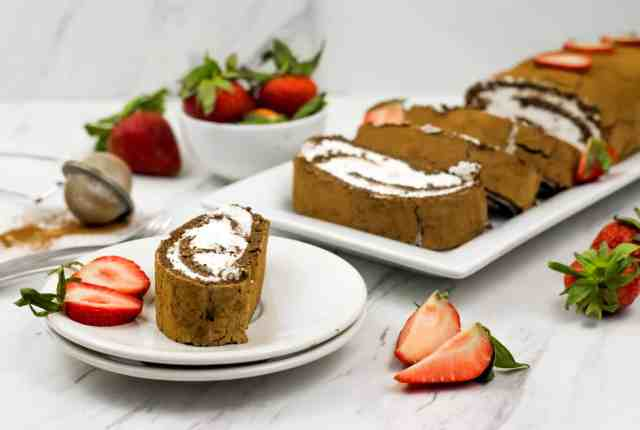 Heavenly clean eating swiss roll recipe made with wholesome ingredients creating guilt free treat.Dairy free, gluten free and delicious.
