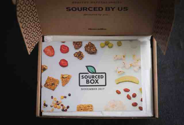 Delicious healthy snacks from SourcedBox perfect when you just starting out with healthy snacking or when you are bored of traditional supermarket snacks.