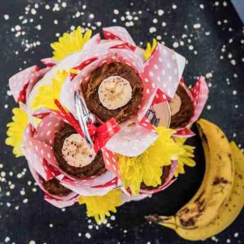 Healthy almond banana muffins recipe