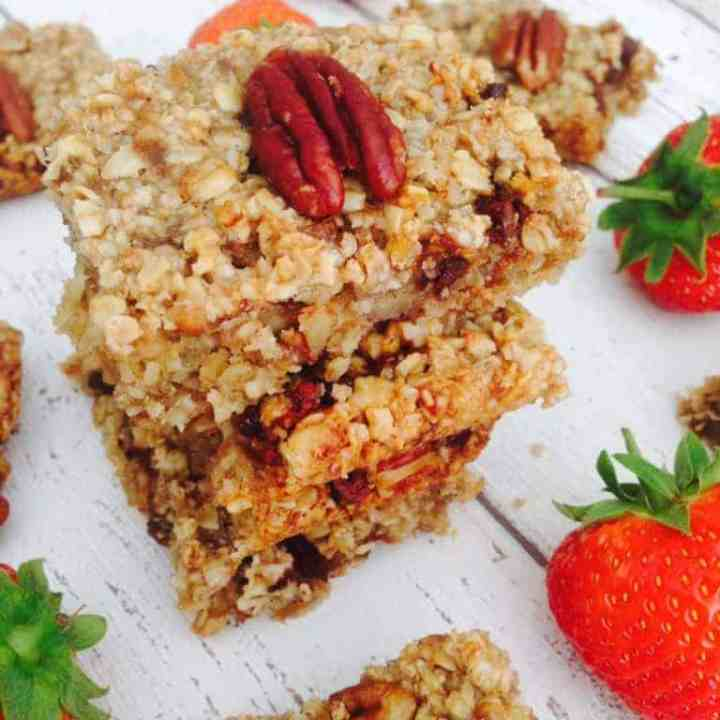 Healthy chocolate flapjack recipe