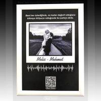 Kişiye Özel QR Karekod Müzikli Tablo Posteri 20x30 Cm Boyut