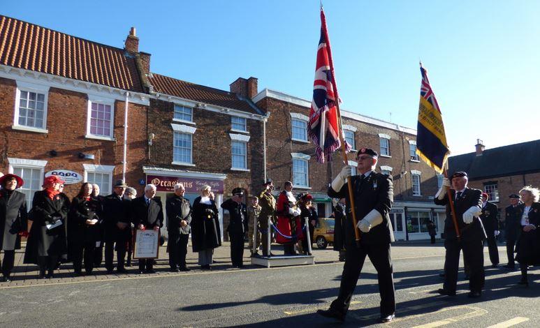 Veterans receive the salute