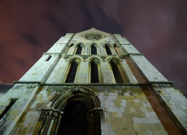 Andy Beecroft southern upwards view of the church 5th January.