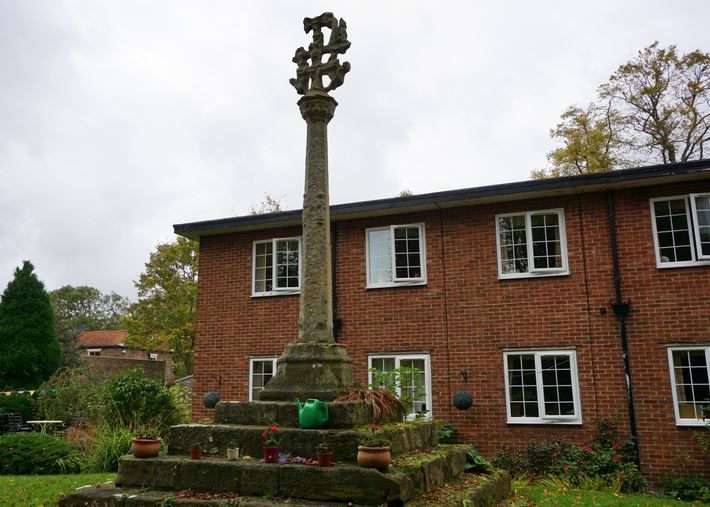 The Kilnsea Cross in the grounds of Holyrood House.