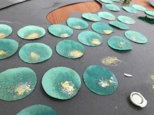 Sea Green Mermaid Dress Tutorial process 9