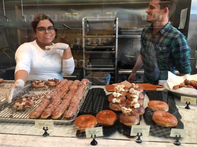 Sidecar Doughnuts Friendly Staff and display