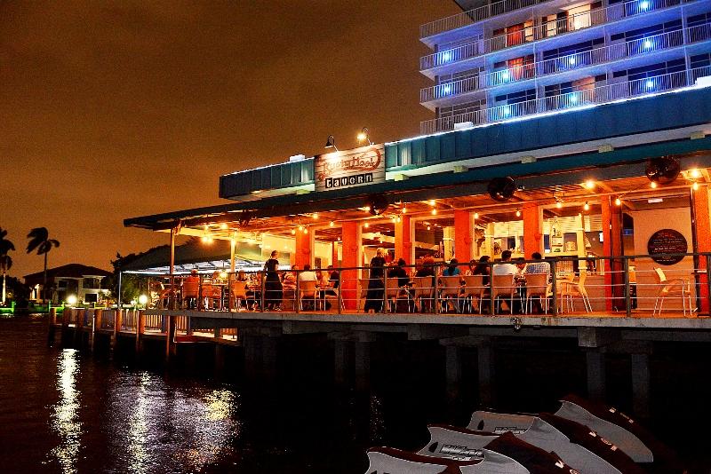 Rusty Hook Tavern - dockside patio - courtesy of Rusty Hook Tavern