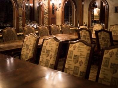 NJWFF Crystal Springs Wine Cellar dining area