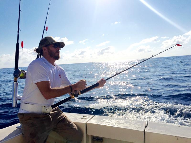 Chef Spike Mendelsohn - Deep Sea Fishing – Miami - Chef Spike Mendelsohn fishing photo by Jessica Poitevien
