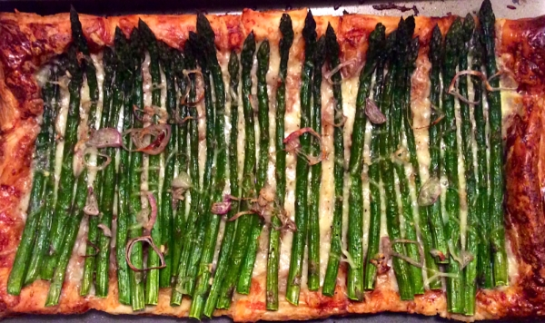 Mother's Day Brunch asparagus tart