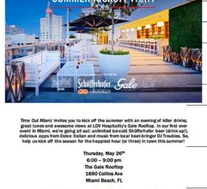 miami's summer kick-off party - GALE ROOFTOP FLYER - hedonistshedonist.com