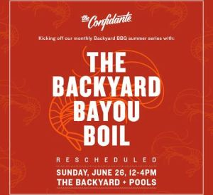 backyard bbq - BayouBoil - the confidante hotel