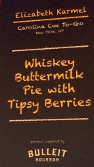 menu: buttermilk pie tipsy berries