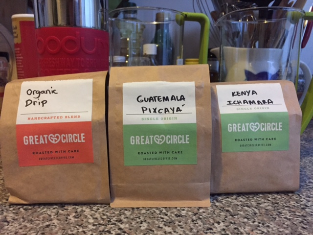 Great circle coffee brewing