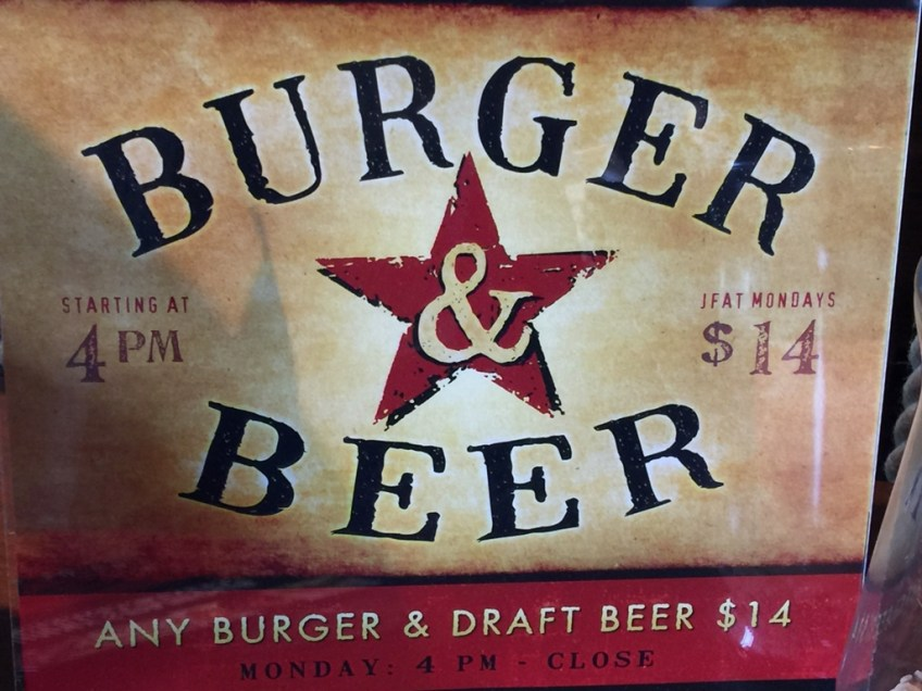 JFAT Burger and Beer Promo