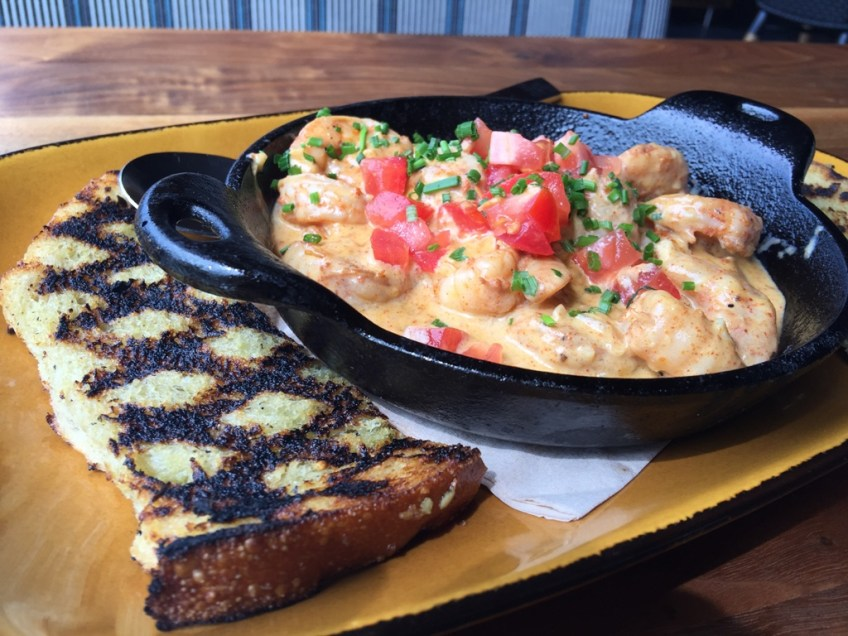 JFAT Whiskey Shrimp and Grilled Toast