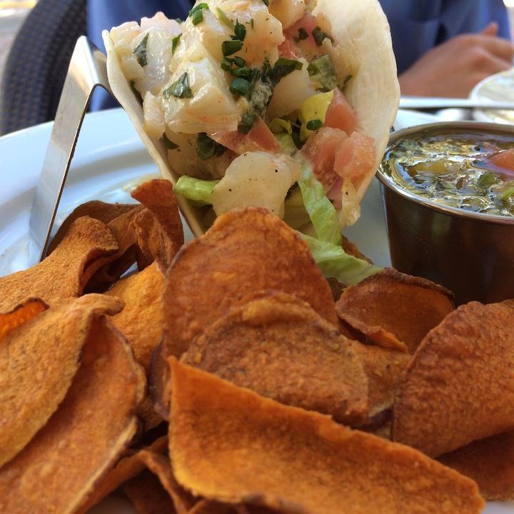 South Pointe Tavern shrimp taco