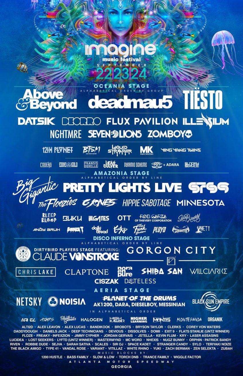 Imagine Music Festival Final Lineup 2017