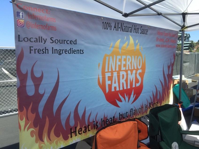 CA Hot Sauce Expo Inferno Farms Sign
