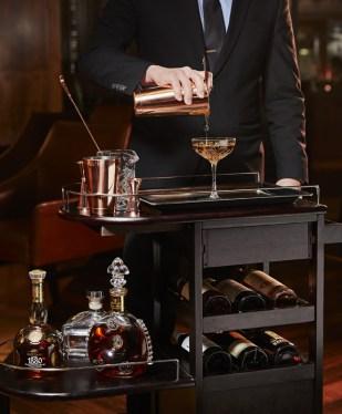 Council Oak-Teize-Louis XIII Beverage Cart Shoulders Down 6-17pl