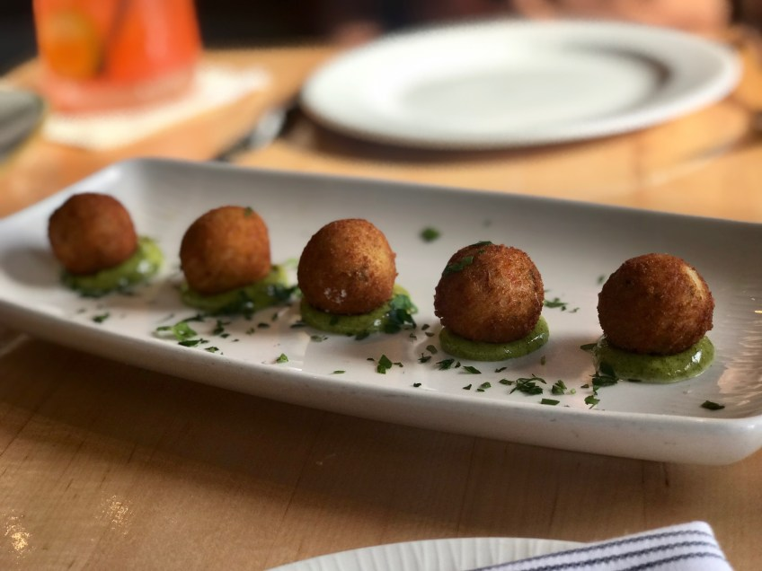 Seaspice King Crab Croquettes paired with Parsley Aioli