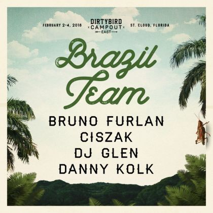Brazil team at Dirtybird Campout East