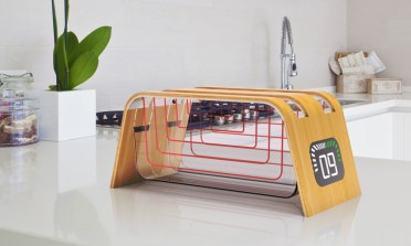 Prozoren toaster Bamboo and Glass