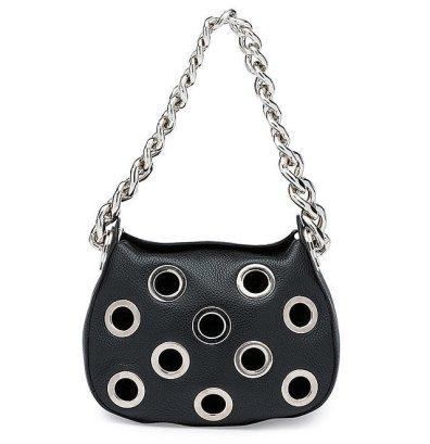 Prada Vitello 'Daino' Small Perforated Chain Hobo Bag