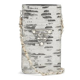 GUESS 'Chit Chat' Python Smartphone Cross-Body Bag