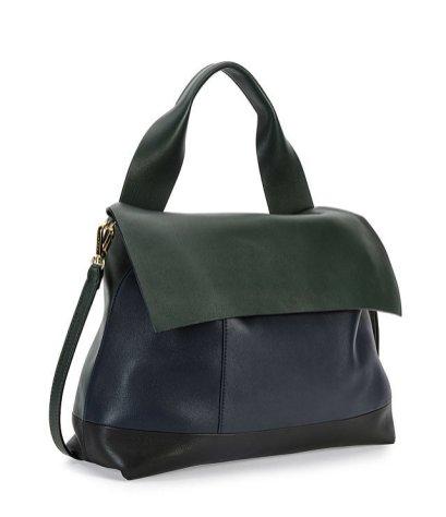 Marni Colorblock Satchel Bag w/Strap